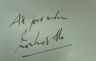 Signed album leaf. Ivor Novello